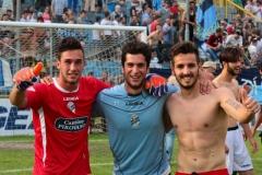 Calcio-Lecco-Seregno-Finale-Playoff-2016-Festeggiamenti-Lazzarini-alborghetti-Tognazzi