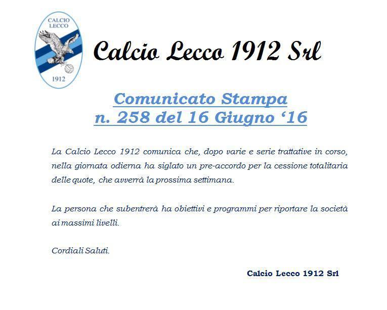 Screen Calcio Lecco 16 Giugno 2016 2