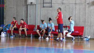 Coach Borgnolo osserva il gioco