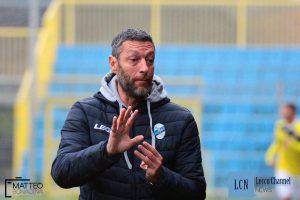 Alessio Delpiano durante Lecco-Cilvierghe Mazzano, gara in cui è stato espulso