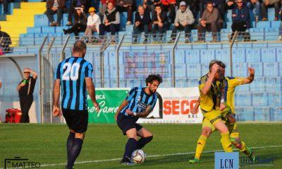 Francesco Luoni in azione contro il Trento, gara in cui ha anche segnato