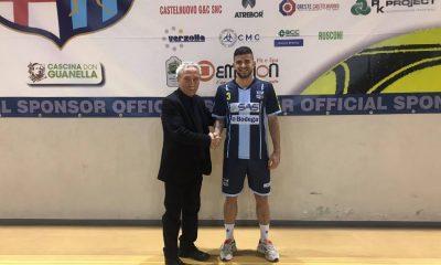 Roald Halimi con la maglia del Lecco Calcio a 5