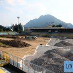 Calcio Lecco, proseguono i lavori allo stadio: il campo sarà più grande