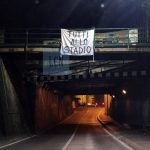 """""""Tutti allo stadio"""": il battage dei tifosi blucelesti continua per le vie della città"""