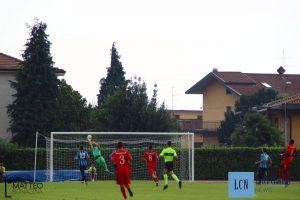 La rete di Pllumbaj costata la sconfitta al Lecco sul campo della Virtus Bergamo