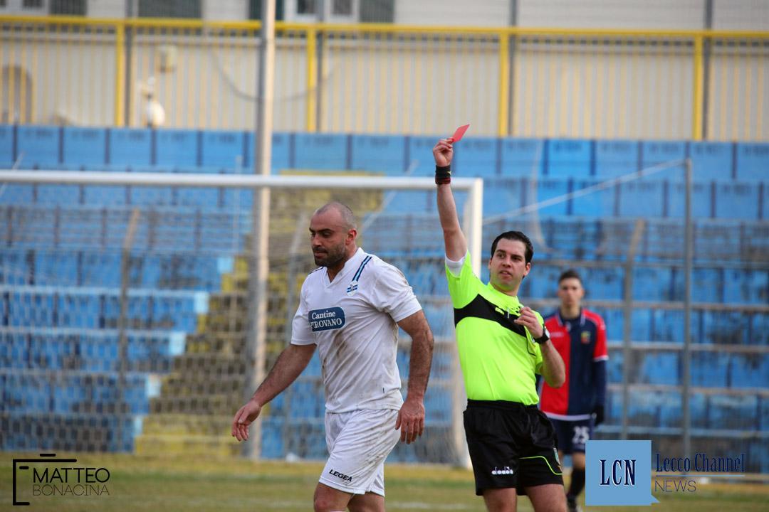 Calcio Lecco Lumezzane Campionato Serie D 2018 Espulsione Cristofoli (7)
