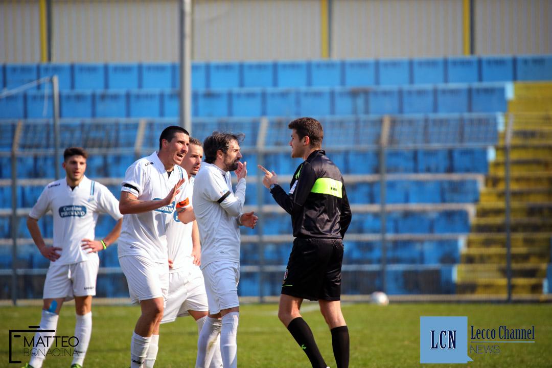 Calcio Lecco Levico Terme Serie D Campionato 2018 Merli Sala Luoni Proteste (26)