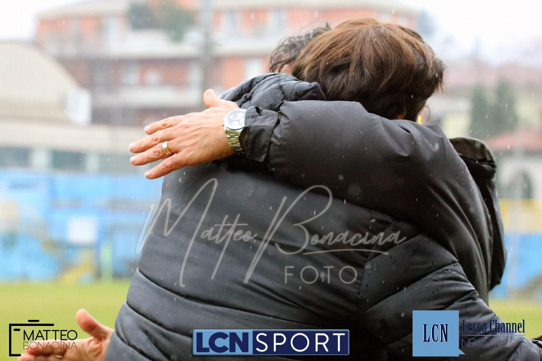 Calcio Lecco Pergolettese Serie D 2018 De Paola Tacchinardi abbraccio (10)
