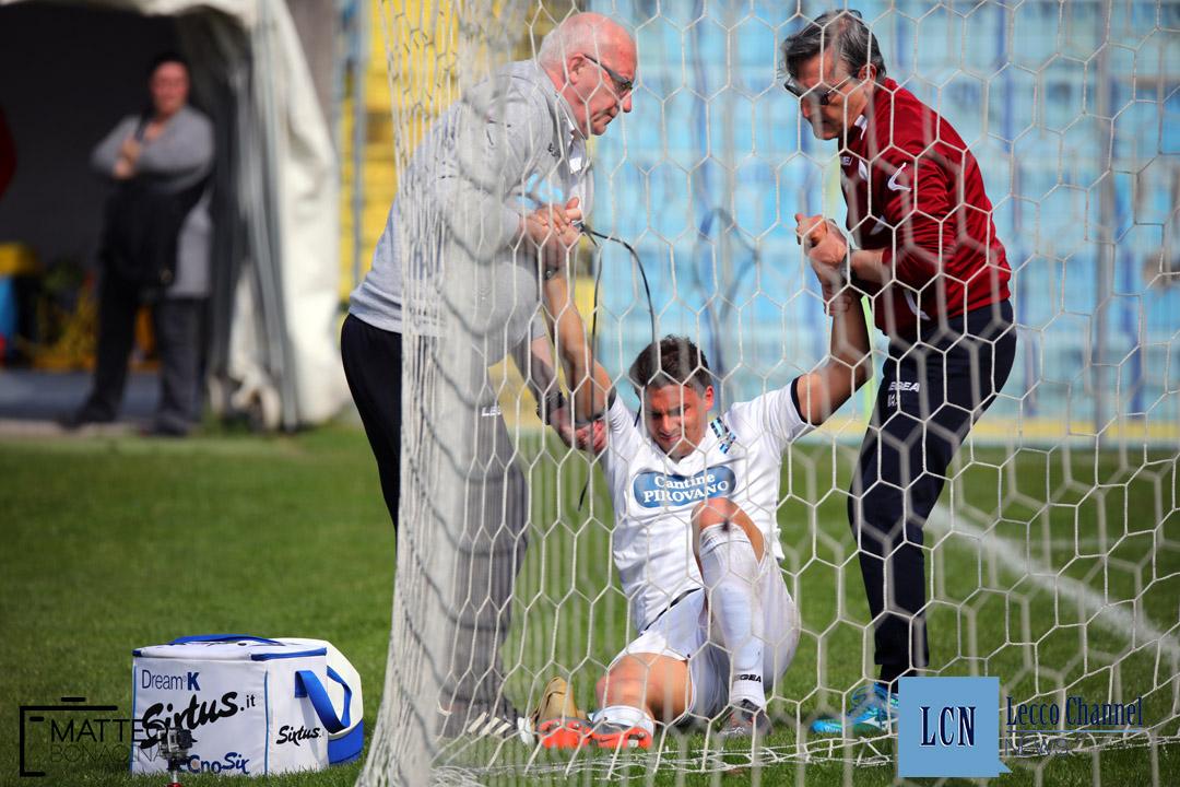Calcio Lecco Darfo Boario Serie D Campionato 2018 Bignotti infortunio (17)