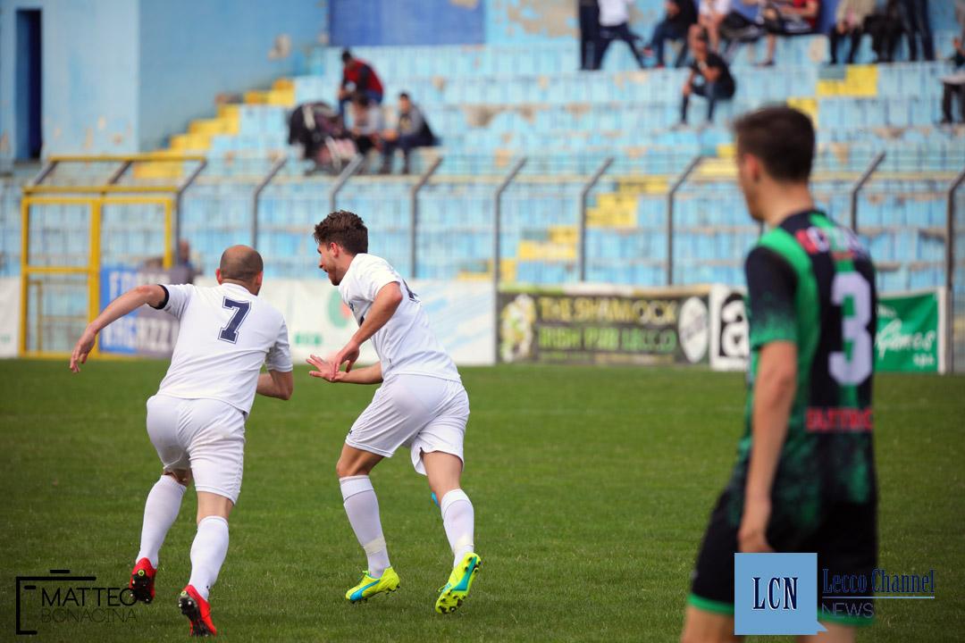 Calcio Lecco Darfo Boario Serie D Campionato 2018 Draghetti Cavalli gol (40)