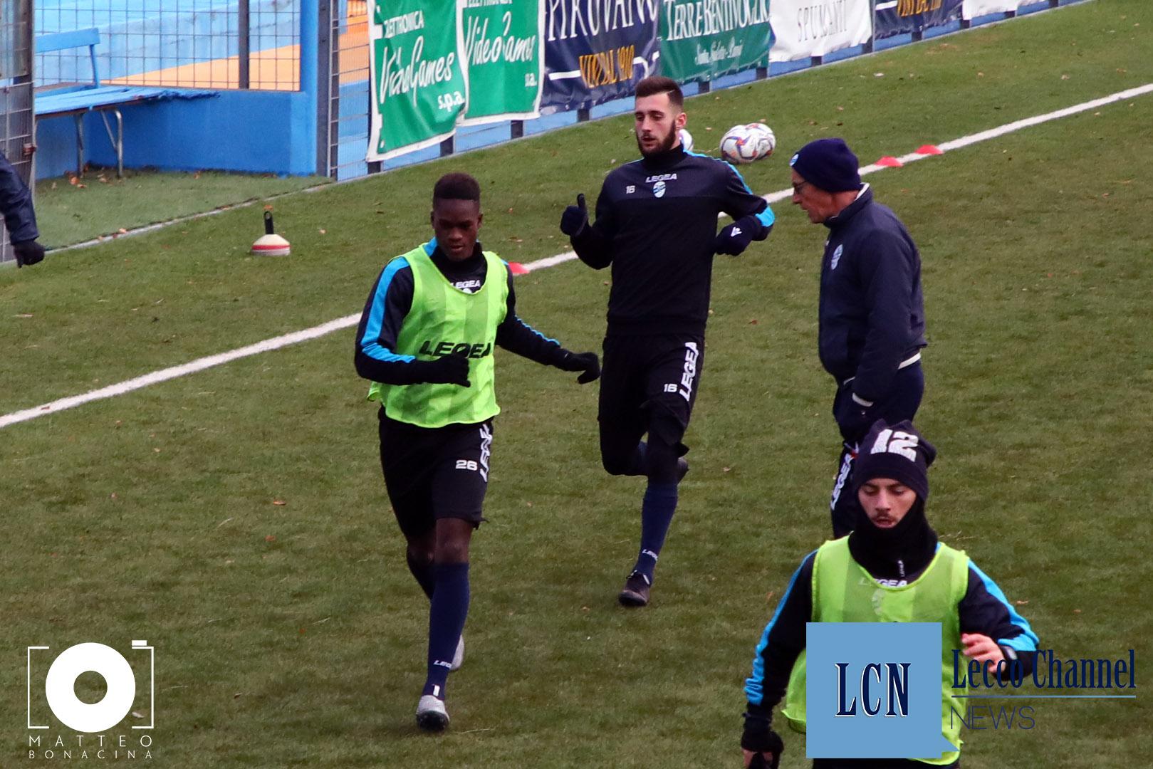 Calcio Lecco Allenamento 28 Dicembre 2018 Samake (5)