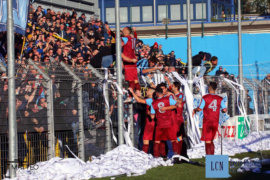 Calcio Lecco Sanremese Campionato Serie D 8 Dicembre 2018 (26) d'anna gol esultanza