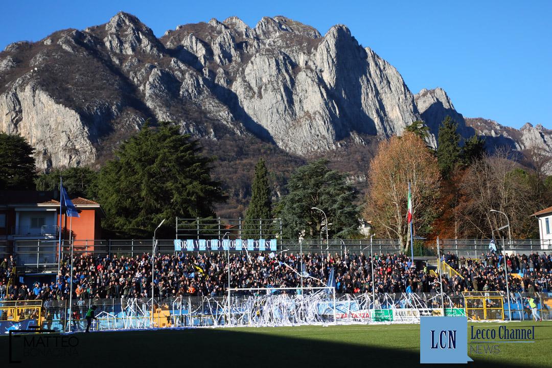 Calcio Lecco Sanremese Campionato Serie D 8 Dicembre 2018 (6) curva nord